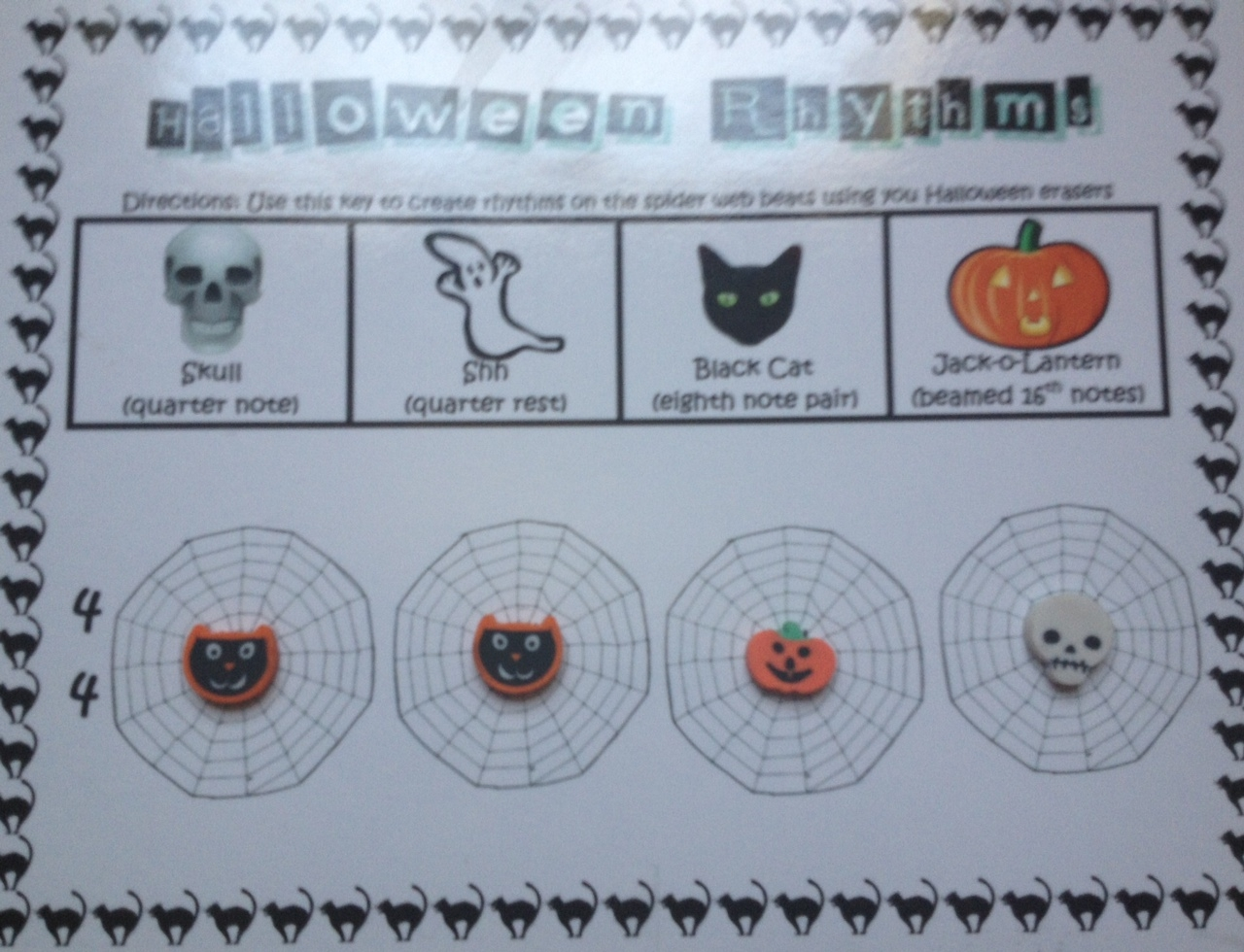 The Sweetest Melody Fall Halloween Rhythm Manipulatives