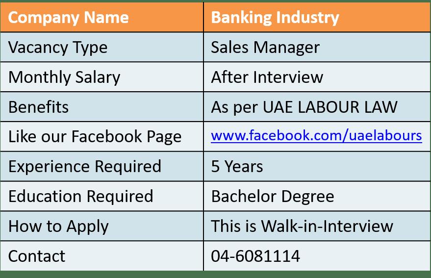 Dubai Jobs 2018