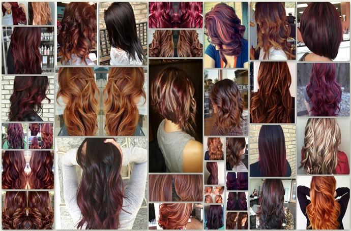 Red Highlights On Black Brown Blonde Hair Hair Fashion
