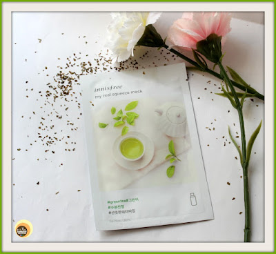 Innisfree My Real Squeeze Mask Green Tea Sheet Mask Review, FOTD, NBAM BLOG