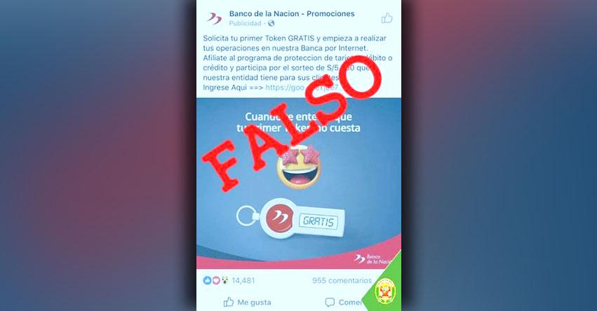 ATENCIÓN: Banco de la Nación no pide actualización de datos personales por Internet - www.bn.com.pe