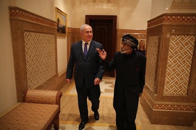 بالفيديو والصور  السلطان قابووس يستقبل بنيامين نتنياهو في مسقط