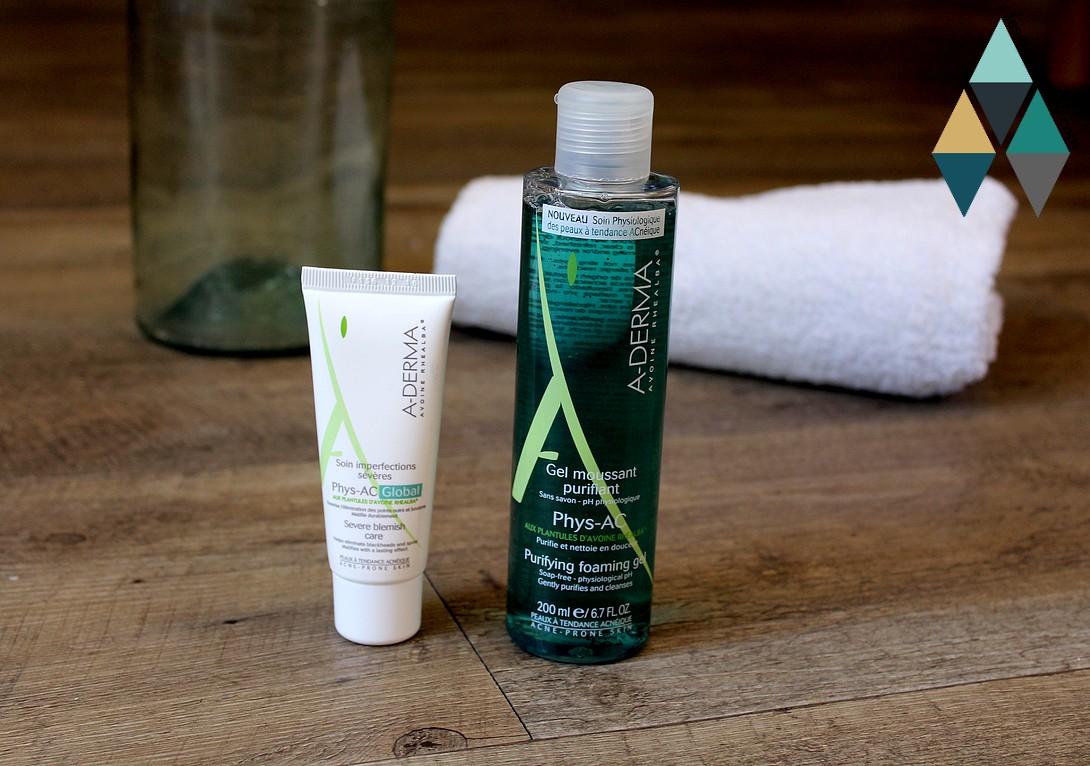 soin Aderma Phys-Ac peaux mixtes peaux grasses peaux acnéiques