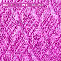 Knitting Stitches For Knitting In The Round : Knit - Purl stitches