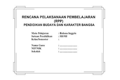 RPP Bahasa Inggris Kelas 1 2 3 4 5 6 SD MI semester 1 dan 2