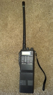 Photo of the Azden AZ-61 hand held transceiver