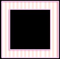 Moldura quadrada listrada rosa - criação Blog PNG-Free