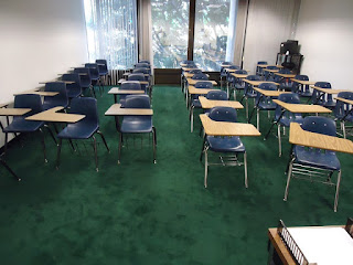 Row chairs  classroom