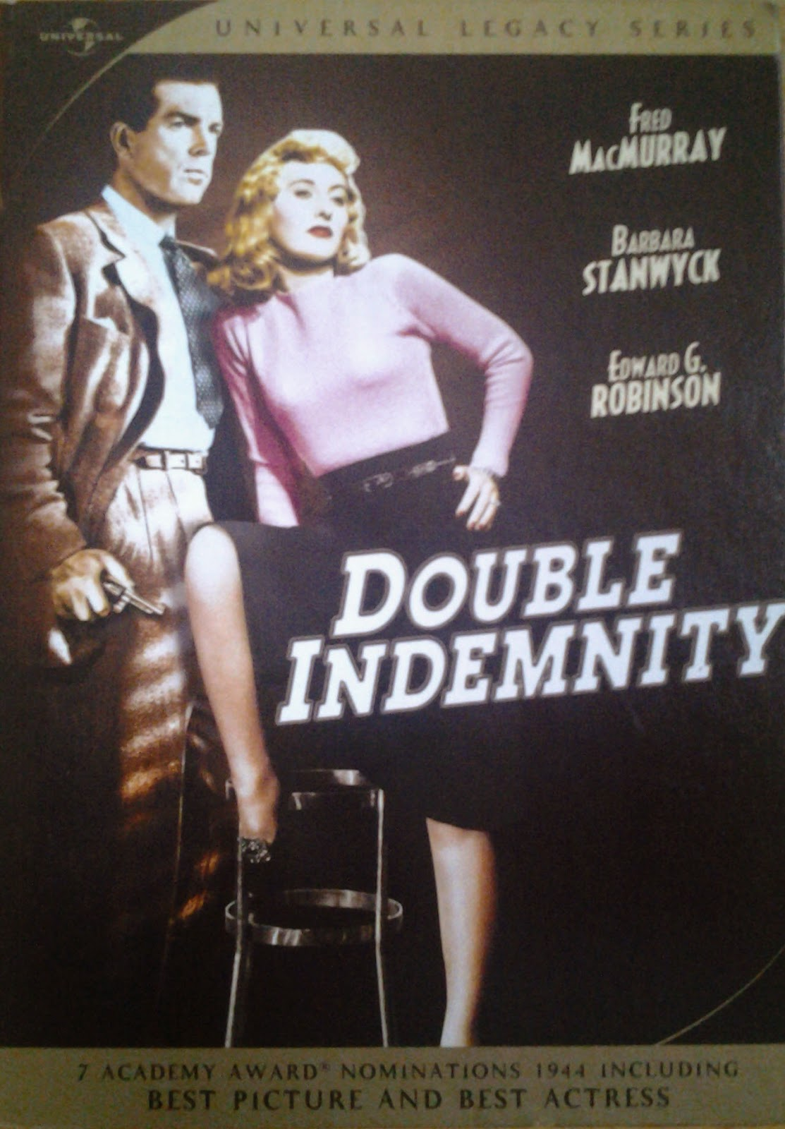 DVD Cover - Double Indemnity