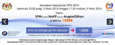 spm 2015 Cara Semak Keputusan SPM 2015 Melalui SMS