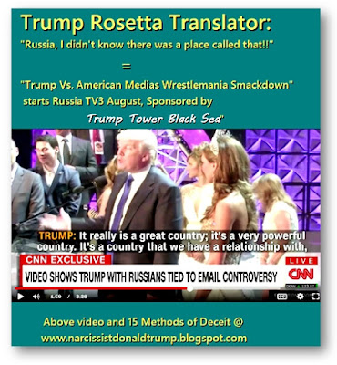 "funny trump meme: Trump Rosetta Translator: ""Russia, I didn't know there was a place called that!!""                                   = ""Trump Vs. American Medias Wrestlemania Smackdown""  starts Russia TV3 August, Trump tower and russian oliogarch meet in Las Vegas"