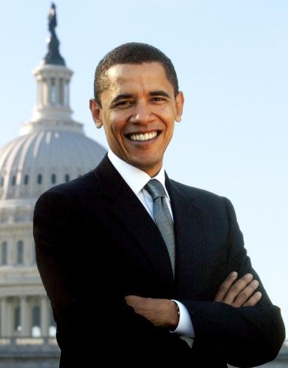 Foto de Barack Obama sonriendo
