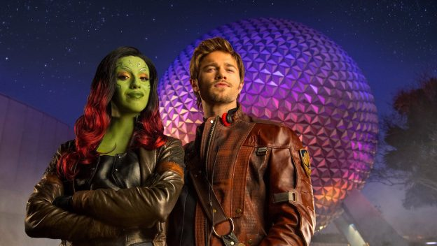 Gamora e Star Lord em Epcot