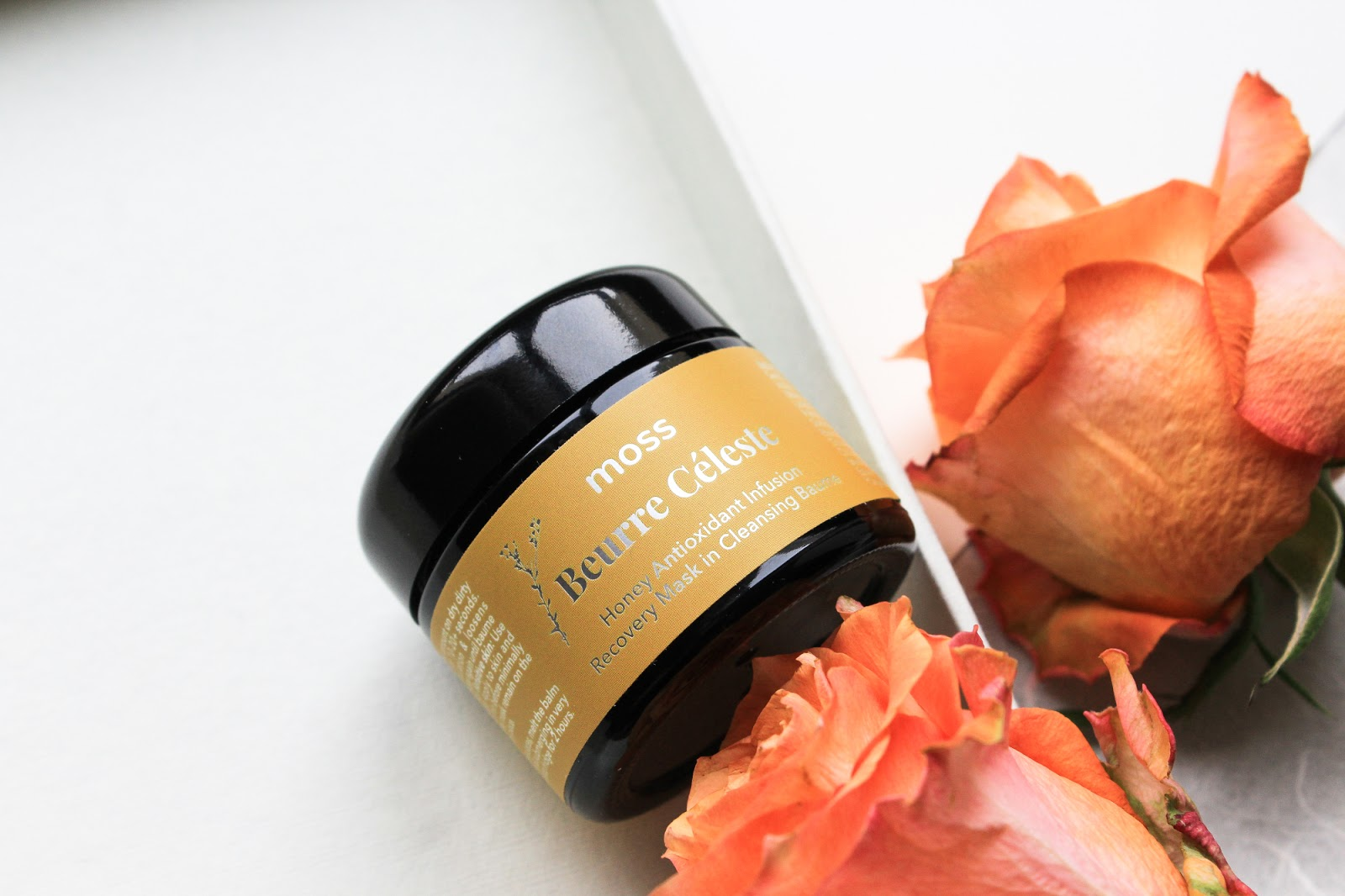 MOSS Beurre Céleste Honey Antioxidant Infusion Recovery Mask in Cleansing Baume. Cleansing Balm. Boxwalla Beauty Box June 2018.