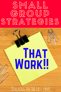 Are you pulling your hair out trying to make your small group work for you and your students? Try these six strategies for success!! The second one is so empowering!