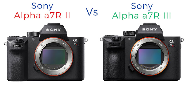 Image showing the Sony alpha a7r ii alongside the sony alpha a7r iii mirrorless digital cameras