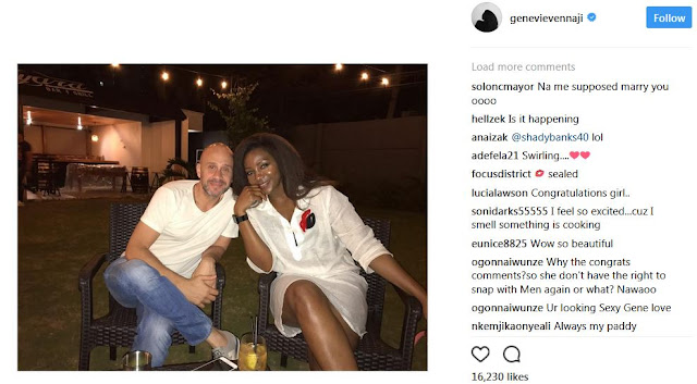 Genevieve Nnaji and her husband