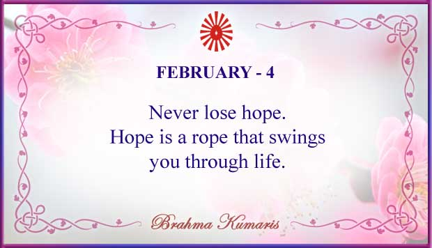 Thought For The Day February 4