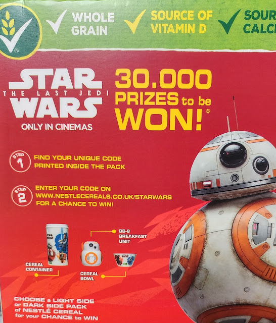 Star Wars On-pack Nestle Cereal promotion: A Timely Promotion