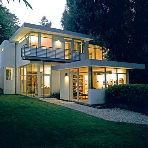 Modern Home Ideas Exterior Design: House, Furniture And Lighting: Modern Small House Design