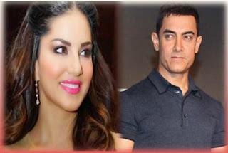 সানি লিওনকে মেসেজ পাঠালেন আমির খান !  Sunny Leone And Amir Khan