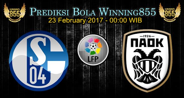 Prediksi Skor Schalke vs PAOK 23 February 2017