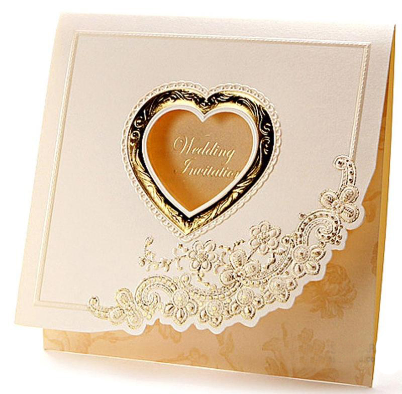 simple and luxurious wedding invitations