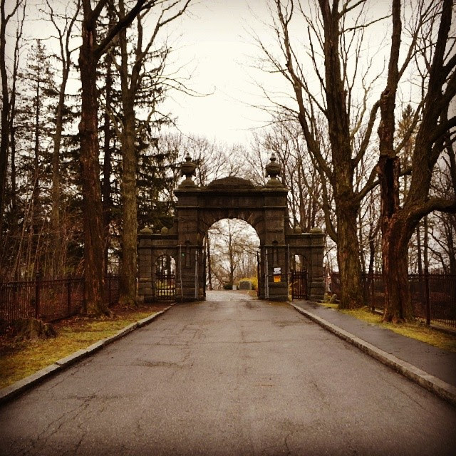 Oak Hill Cemetery, Gate, Newburyport, Massachusetts, roadway, eternity