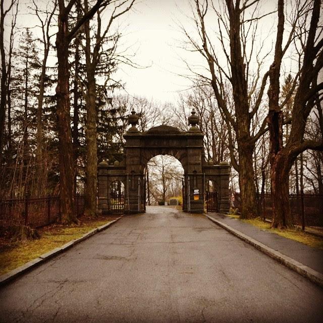 Oak Hill Cemetery, Gate, Newburyport, Massachusetts, roadway, eternity