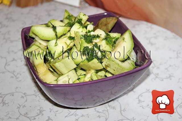 рецепт маринованных кабачков