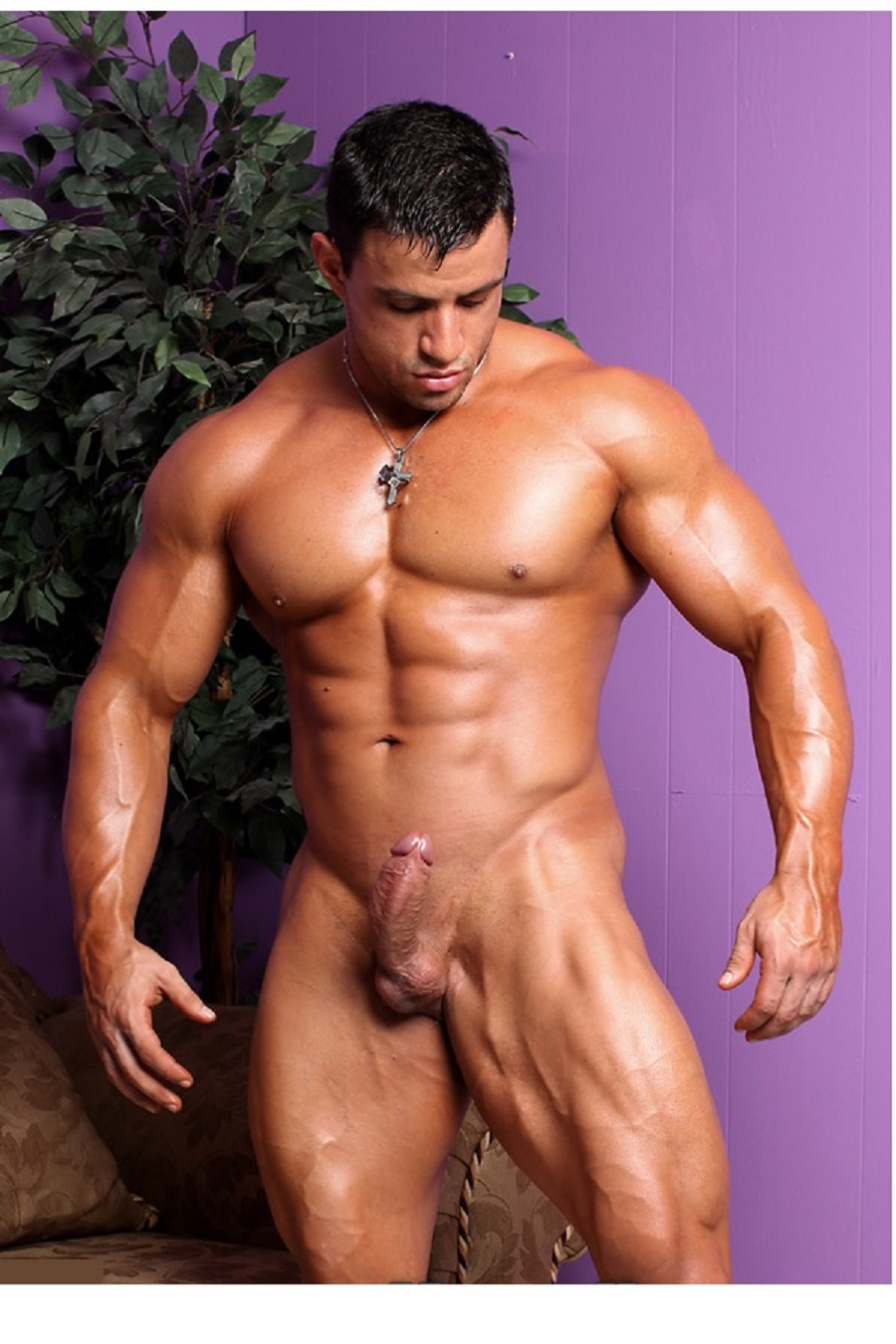 Nude male bodybuilder — img 7