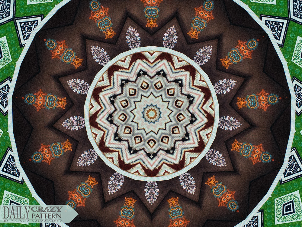 "Awesome kaleidoscope pattern for ""Daily Crazy Pattern"" 