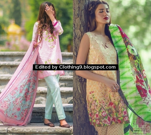 c81b1a81a0 Mina Hasan Luxury Lawn Dress Collection 2015 for Women by Shariq Tex
