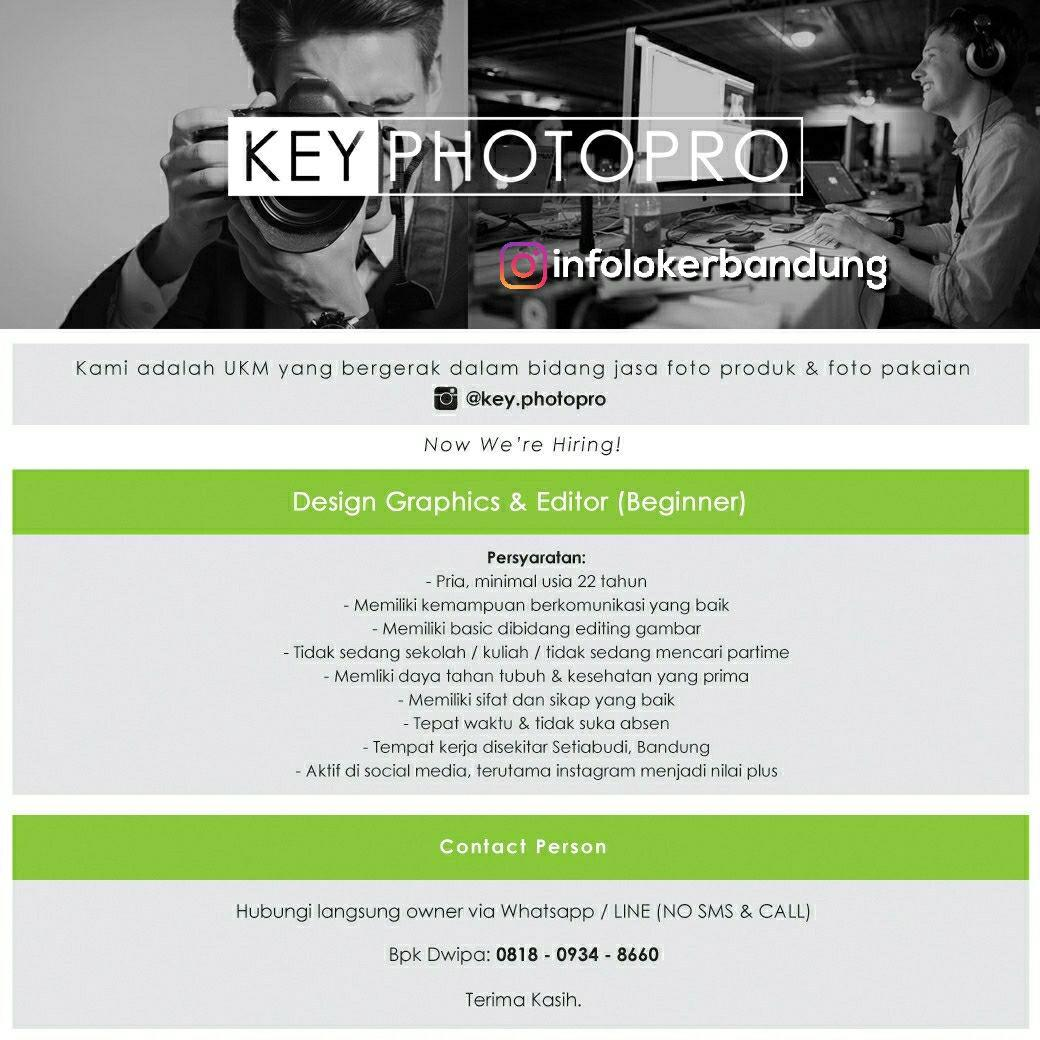 Lowongan Kerja Key Photopro Bnadung April 2018