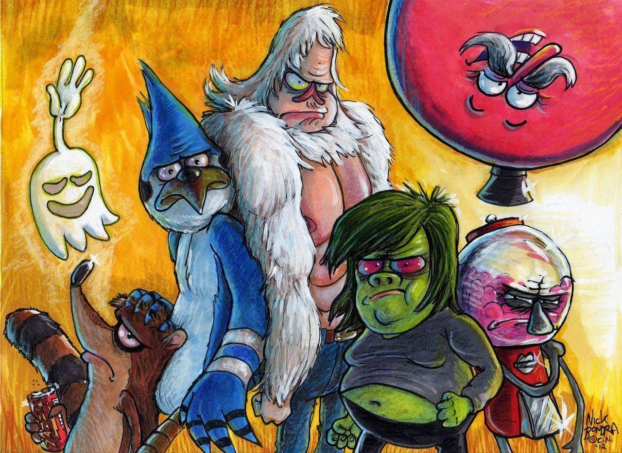 Gambar Kartun Pria Berotot