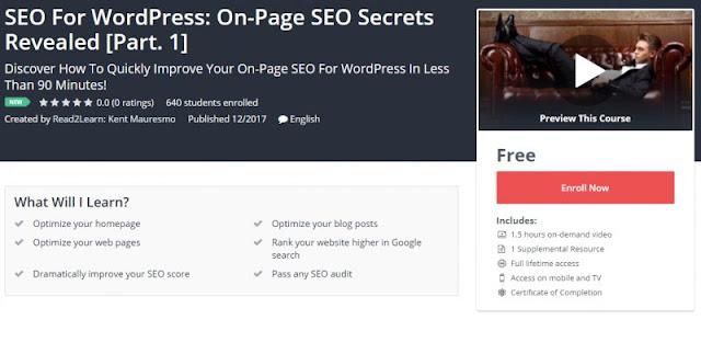 [100% FREE] SEO For WordPress: On-Page SEO Secrets Revealed [Part. 1]