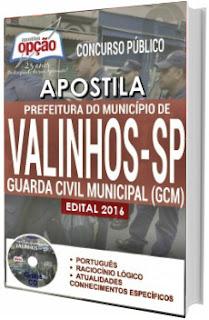 Apostila Prefeitura de Valinhos SP 2016 GCM