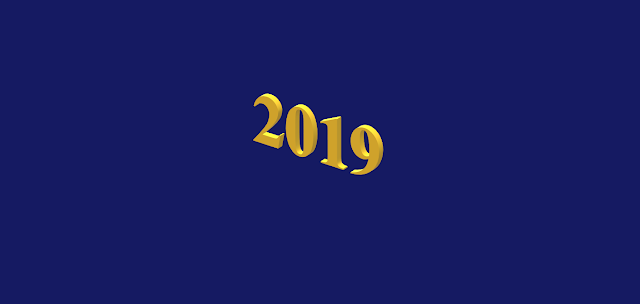 Graphic showing the year 2019