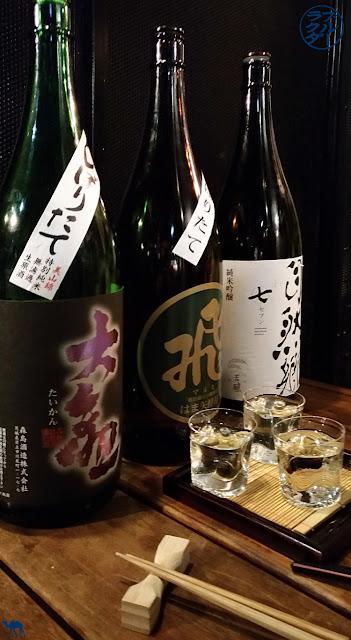 Dégustation de sakés chez Ukyo Isakaya a Roppongi Tokyo - Le Chameau Bleu voyage au Japon