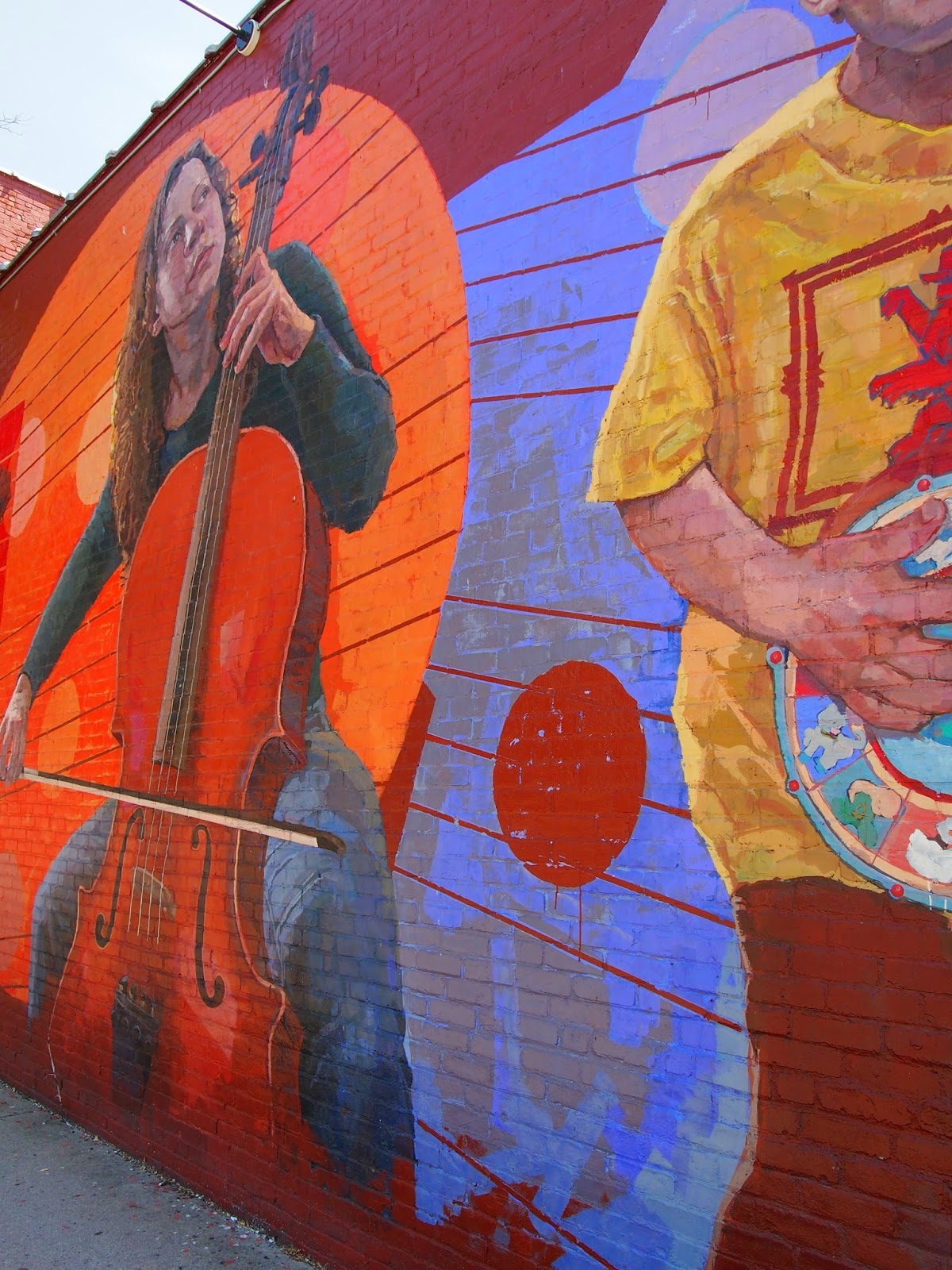 A mural of music in New London, Connecticut