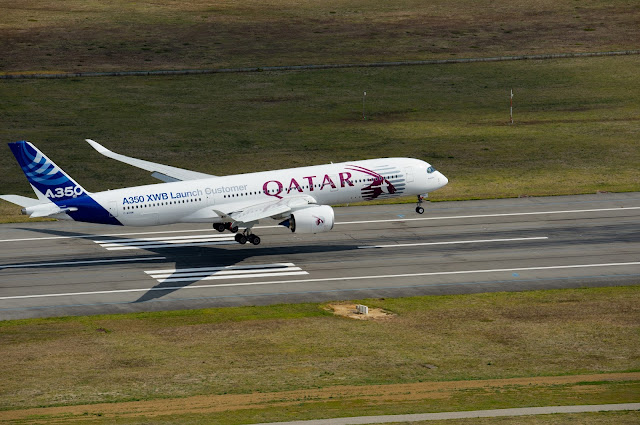 Qatar Airways Airbus A350-900 XWB First Flight in Livery