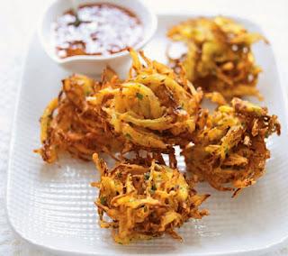 onion bhajis recipe