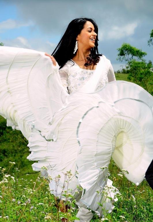 Cute bhavana in white dress