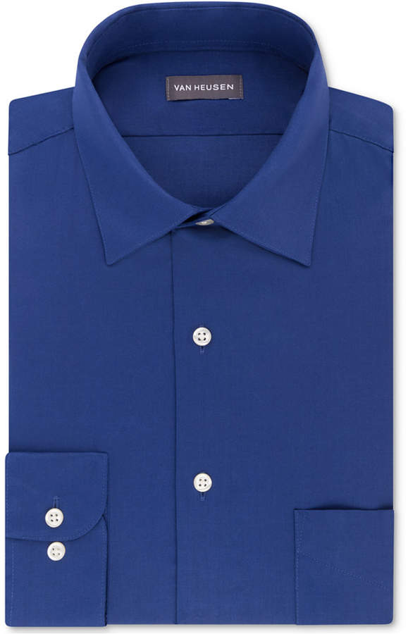 Van Heusen Men's Classic/Regular Fit Stretch Wrinkle-Free Sateen Dress Shirt