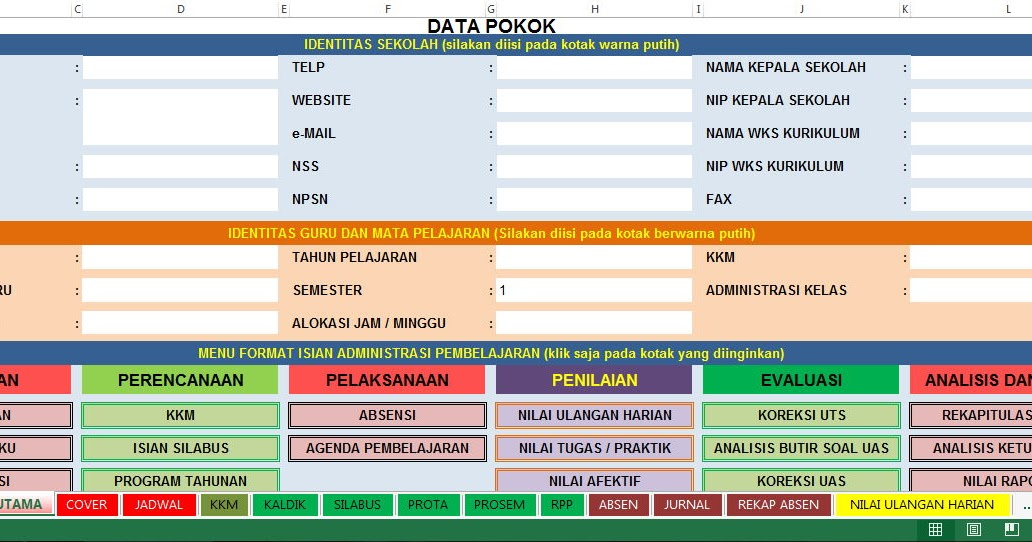 Download Gratis Aplikasi Administrasi Guru Terbaru Format