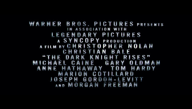 The Dark Knight Rises Teaser Trailer Credits
