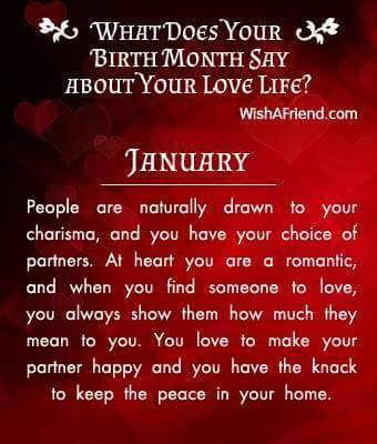 What your birthday month says about you