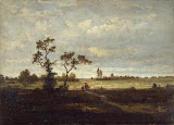 Landscape by Theodore Rousseau - Landscape Paintings from Hermitage Museum