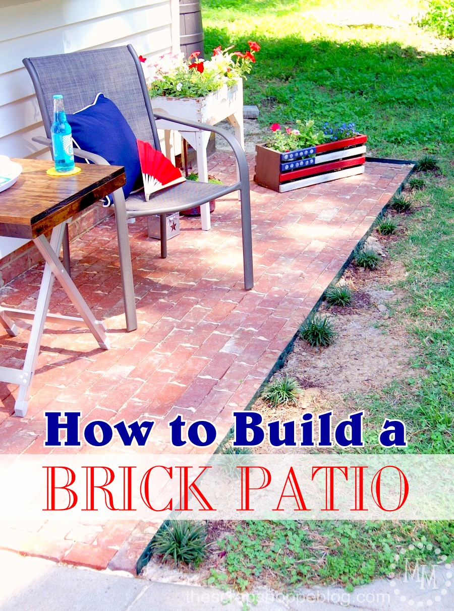 how to build a brick patio the scrap