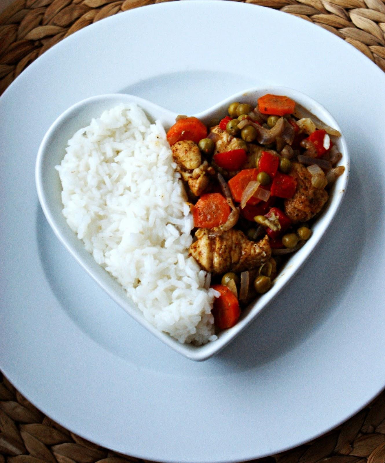 Kurczak Warzywa I Ryz Latwy I Szybki Obiad Inspiracje Kulinarne